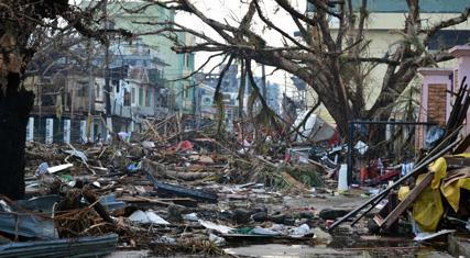 Typhone Haiyan image. ECEP 1st SE Asia Workshop. Risk strategies in a changing environment