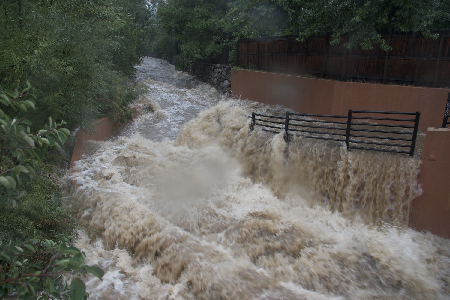 Raging Boulder Creek flooded Sept. 2013